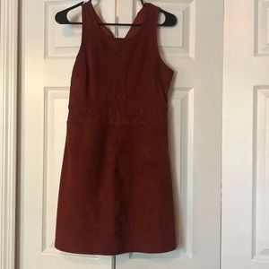 Brown suede dress-like new!